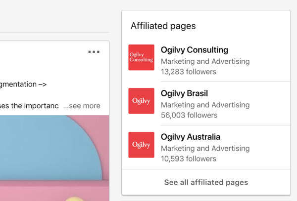 Ogilvy's affiliated LinkedIn company pages.