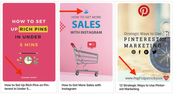 examples of ways to brand your pinterest pins