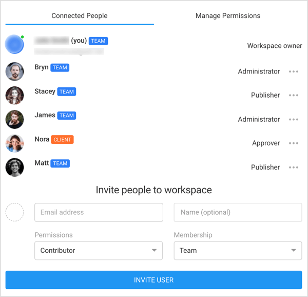 Invite people to Planable workspace.