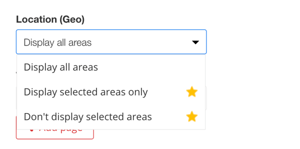 zotabox live chat location (geo) display options