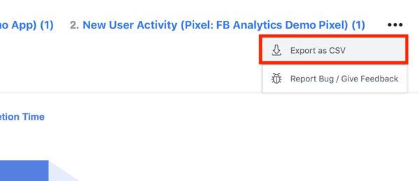 Export your Cross-channel user acquisition funnel data as a .csv file.