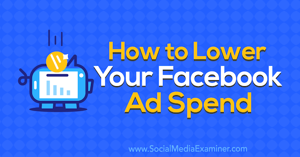 How to Lower Your Facebook Ad Spend by Brad Smith on Social Media Examiner.
