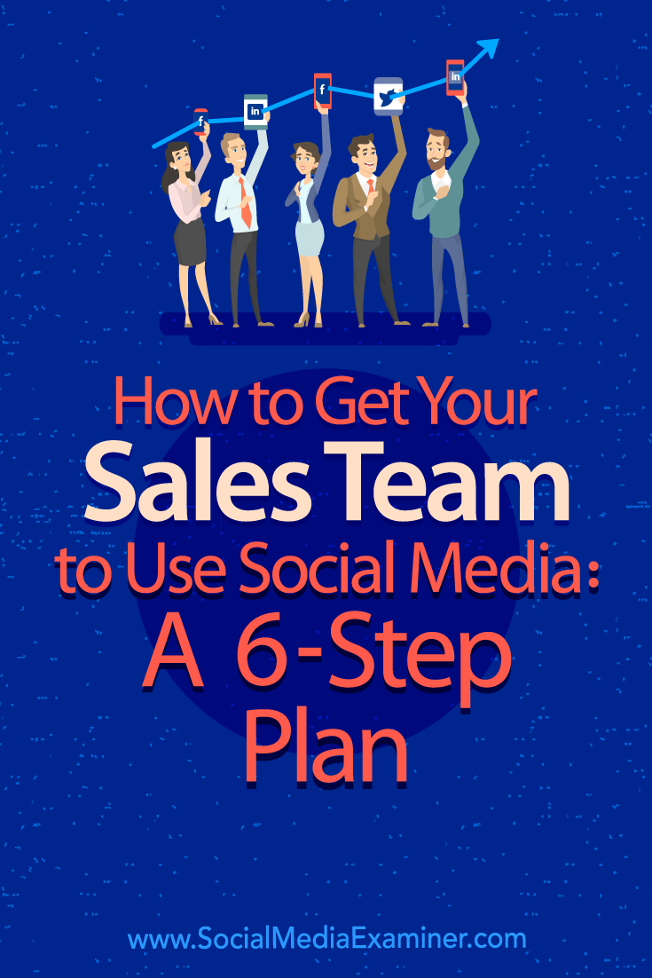 Find a six-step plan to help your sales team adopt social media in their daily routine.