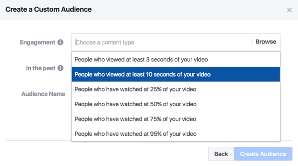 Amplify video content with a Facebook ad that targets people who watched at least 10 seconds of the show.