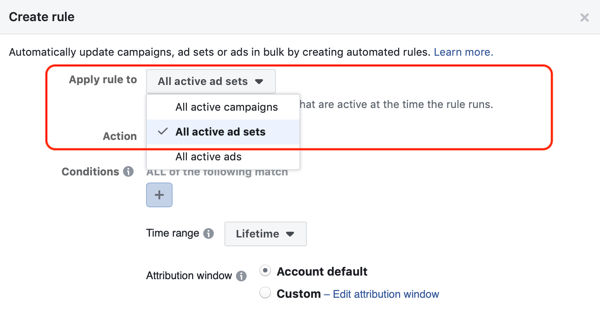 Use Facebook automated rules, stop ad set when spend is two times cost and less than 1 purchase, step 1, apply to all ad sets