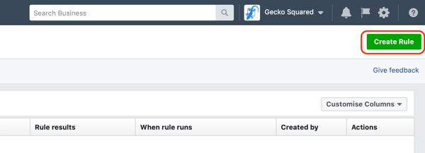 Use Facebook automated rules, find rules in Facebook Ads Manager step 3, create rule button