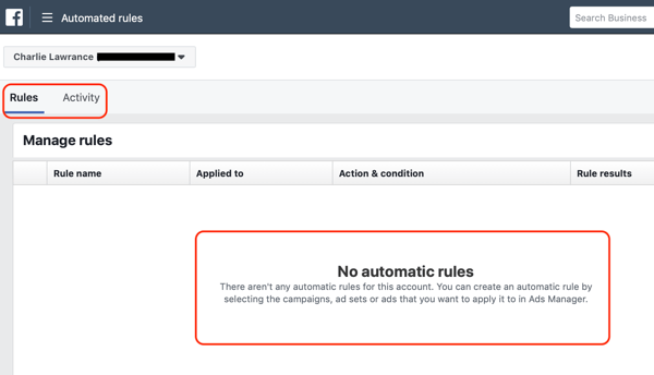 Use Facebook automated rules, find rules in Facebook Ads Manager step 2, no automate rules