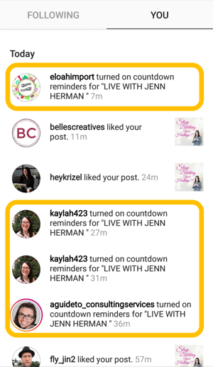 How to use the Instagram Countdown sticker for business, countdown reminder confirmation.