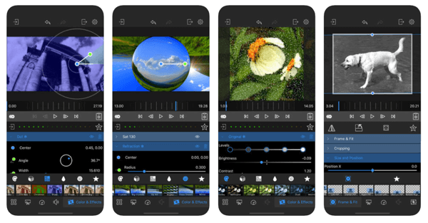 LumaFX is a video editing app.