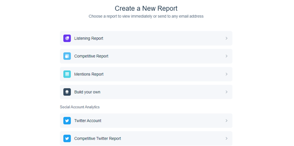 Option to create a report in Mention.