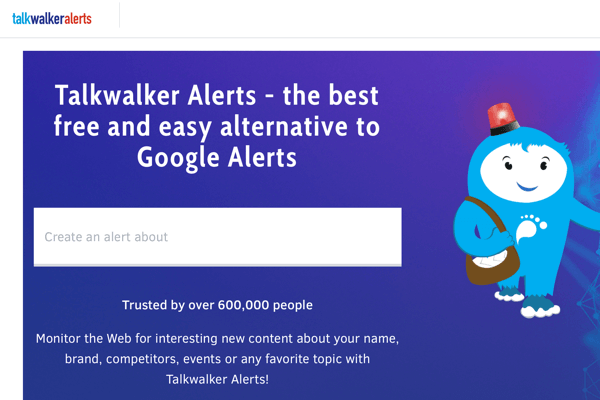 How to use Talkwalker Alerts for social media listening, Step 1 create alert.