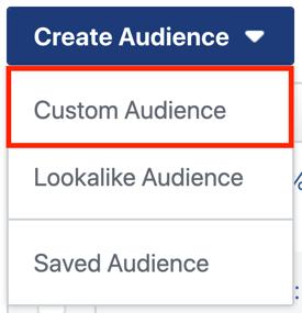 Een zelfvoorzienende Instagram-advertentiereeks maken en uitvoeren voor slechts $ 5 per dag, een Instagram-advertentiecampagne maken, stap 3, een aangepaste vervolgkeuzelijst voor het publiek maken