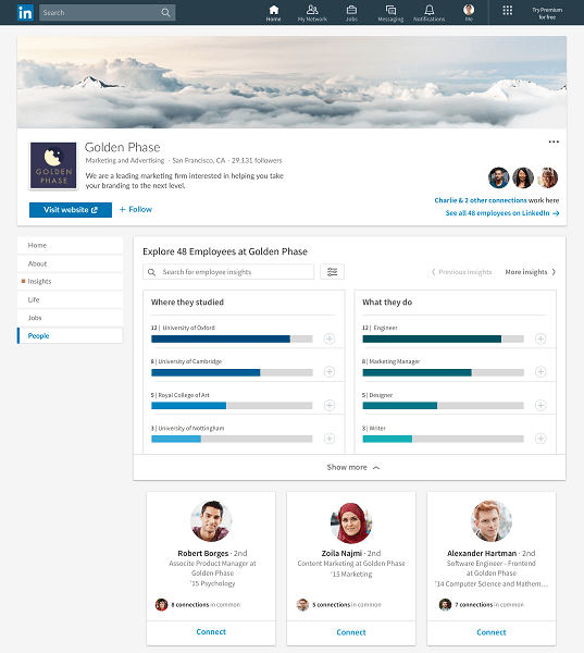 LinkedIn rolled out several new features to help members connect with companies they care about.