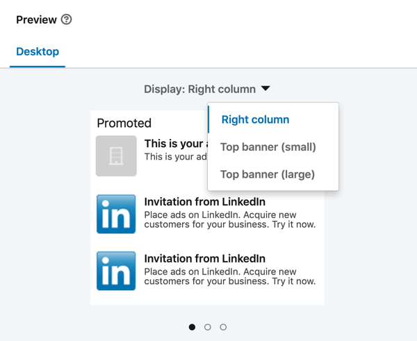 How to create LinkedIn text ad, step 13, ad preview