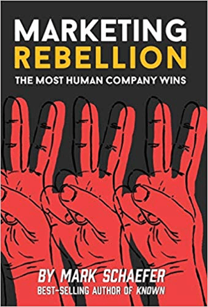 Marketing Rebellion: The Most Human Company Wins written by Mark Schaefer.