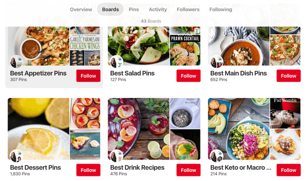 Tips on how to improve your Pinterest reach, example 3, Simple Pin Media Pinterest boards example
