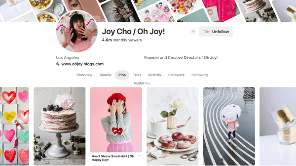 Tips on how to improve your Pinterest reach, example 6, Joy Cho Pinterest pins example