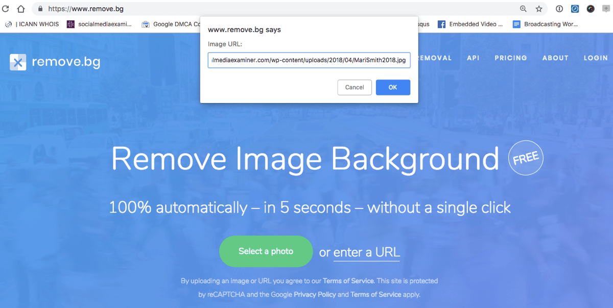 remove.bg uses AI to remove backgrounds from images, automatically.