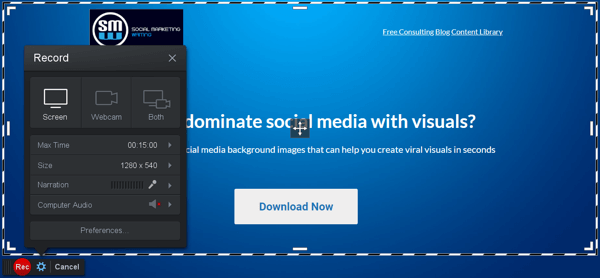 Ways for B2B businesses to use online video, Screencast-O-Matic video editor example