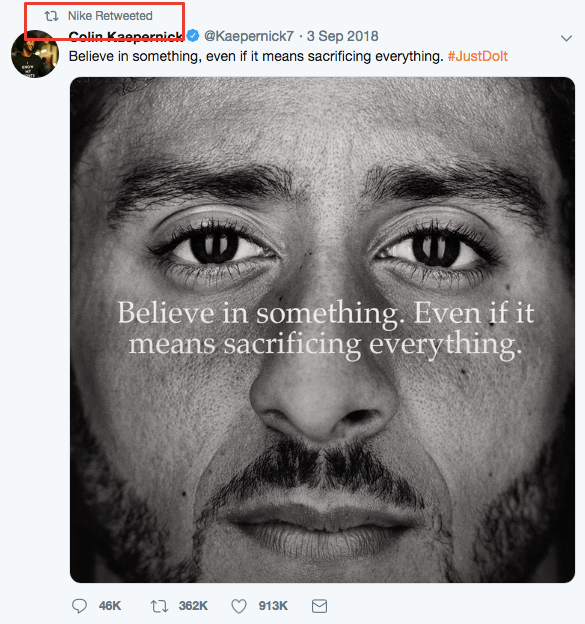 Nike took a stand that gave its marketing meaning.