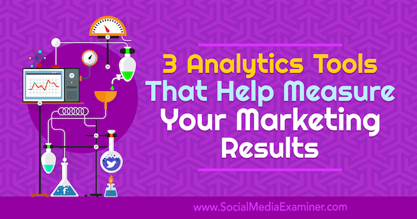 3 Analytics Tools That Help Measure Your Marketing Results by Aleh Barysevich on Social Media Examiner.