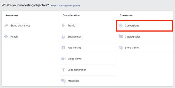 Kiat untuk menurunkan biaya Iklan Facebook Anda, opsi untuk memasarkan iklan Facebook Anda untuk konversi