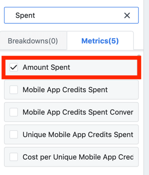 Tips to lower your Facebook Ad costs, option to view amount spent as part of your report
