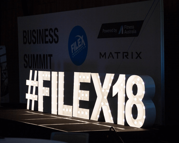 How to promote your live event on Facebook, example of a live event hashtag at #filex18