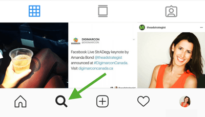 How to strategically grow your Instagram following, step 8, find relevant hashtags, visit Instagram Search & Explore tab