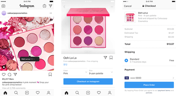 New checkout on Instagram feature is rolling out as a closed beta for select businesses and buyers in the U.S.