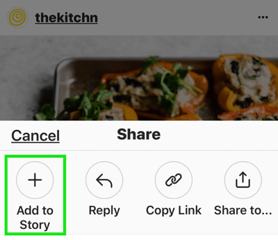 Create strong, engaging Instagram stories, option to add an Instagram post to a story