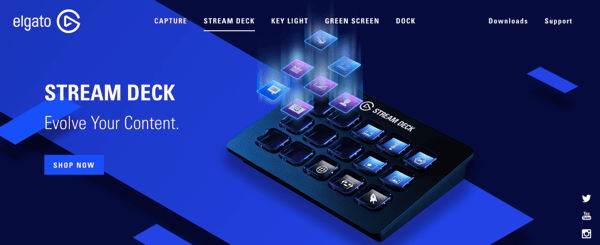 Use Elgato stream deck to easily play an intro video, switch scenes, launch graphics, and play sounds during your live stream.
