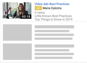 How to set up a YouTube ads campaign, step 6, choose a YouTube ad format, TrueView discovery ads example