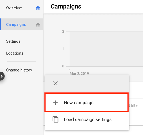 How to set up a YouTube ads campaign, step 3, choose a YouTube ad objective, new campaign