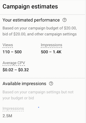 How to set up a YouTube ads campaign, step 37, set campaign bid amount