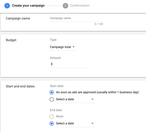 How to set up a YouTube ads campaign, step 8, set budget, schedule, and bid option