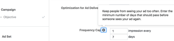Determine the average number of times a user should see your ad within a certain time period.