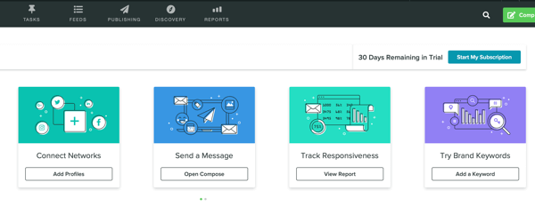Measure marketing results, assess audience activity and engagement, step 1, Sprout Social dashboard