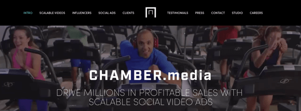 Chamber Media makes scalable social video ads.