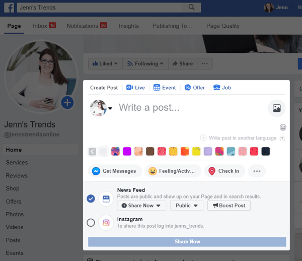 How to Cross-Post to Instagram From Your Facebook Page : Social