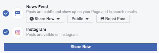 How to cross-post to Instagram from Facebook on desktop, step 1, ensure you can post to Instagram from Facebook