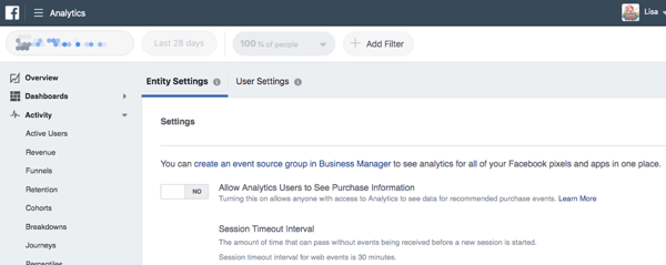Create an event source group to draw behavior data from your marketing sources.