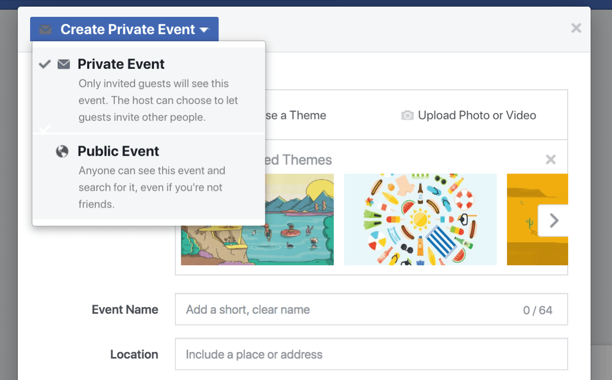 Facebook events give your business a way to include fans, followers, and customers in a webinar, a product launch, a grand opening, or other celebrations.