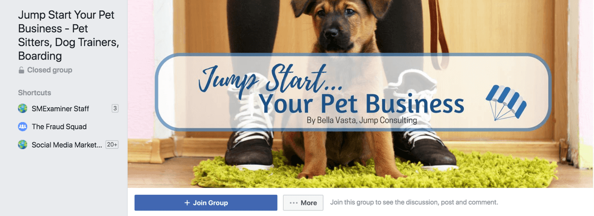 Either create your own group or join one of the many Facebook groups formed around your industry.