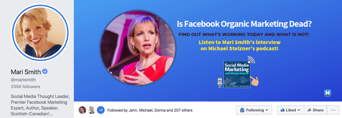A Facebook business page shows what you sell, a public figure page shows who you are
