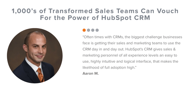 How to use social proof in your marketing, example social review of HubSpot CRM