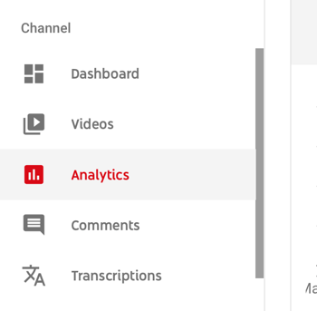 How to use a video series to grow your YouTube channel, menu option for YouTube analytics