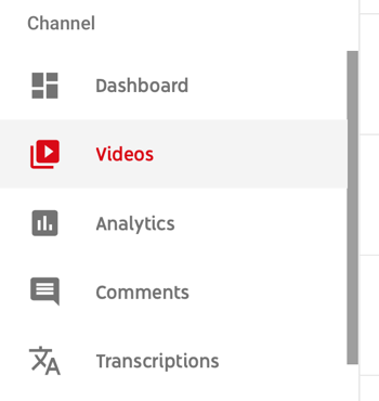 How to use a video series to grow your YouTube channel, menu option to select a specific YouTube video to view analytic data