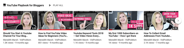 How to use a video series to grow your YouTube channel, example of a 5-video YouTube series on a single topic