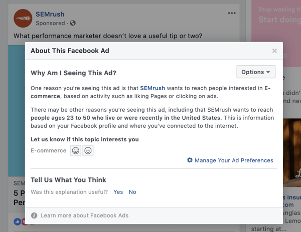 Research your competitors' Facebook ads step 11.